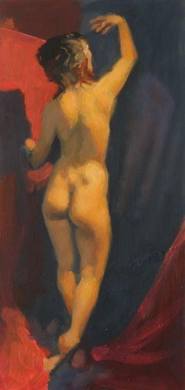 """Standing nude"" original fine art by Peter Orrock"
