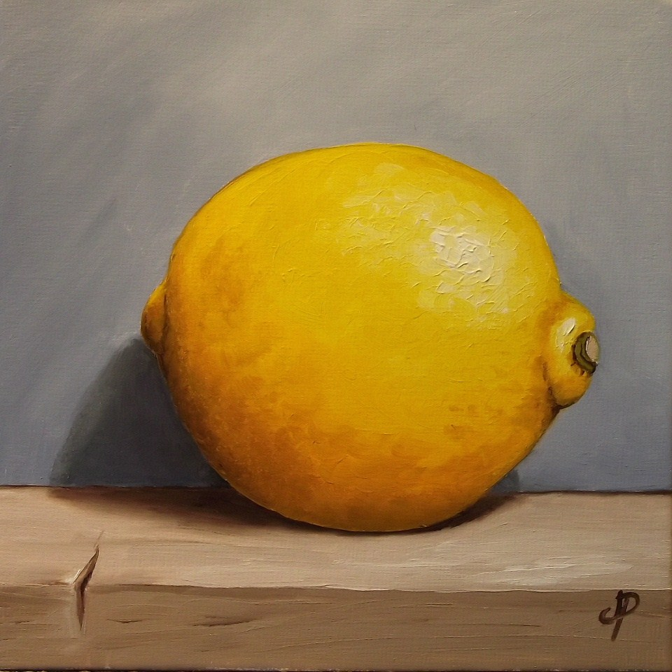 """Lemon"" original fine art by Jane Palmer"