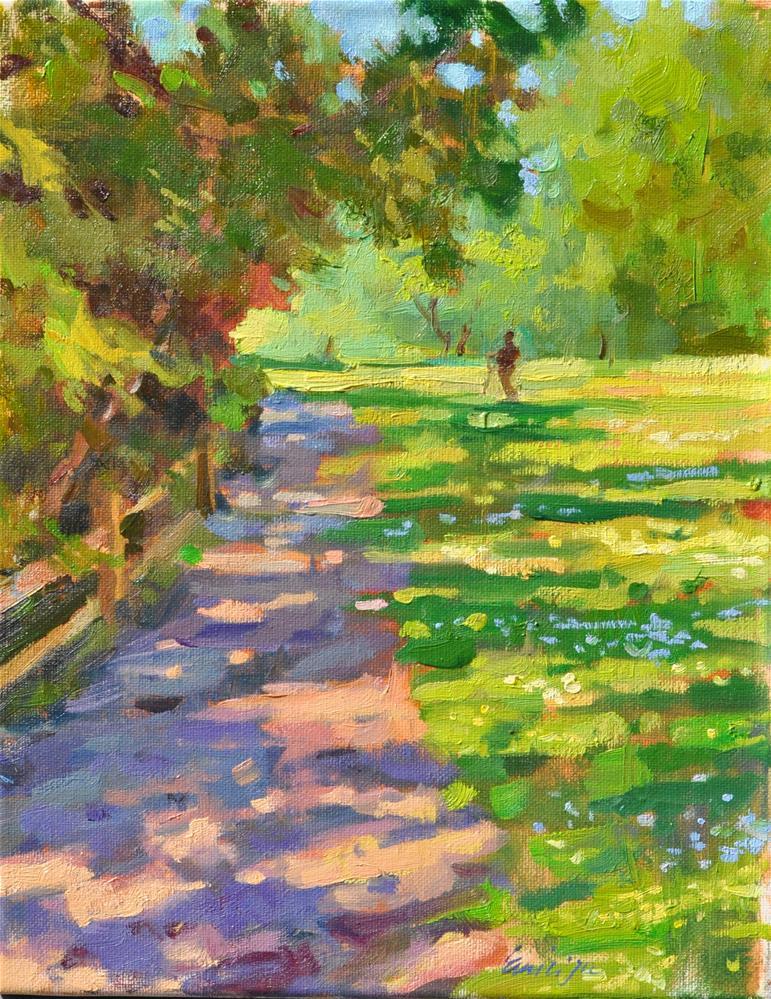 """""""Meadow to Sunlight"""" original fine art by Emiliya Lane"""