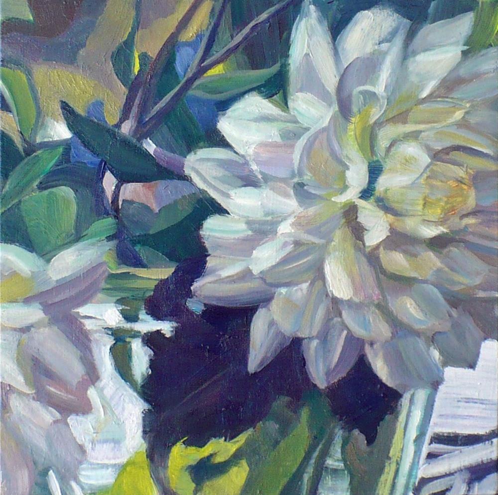 """""""Backlit White"""" original fine art by Nicoletta Baumeister"""