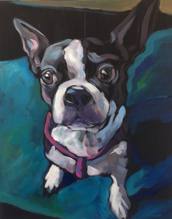 """Diamond Dog"" original fine art by Kat Corrigan"