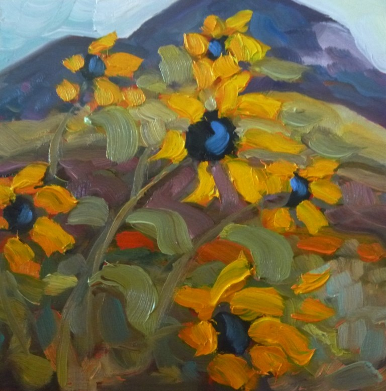 """50 SUNS WITH EL SALTO"" original fine art by Dee Sanchez"