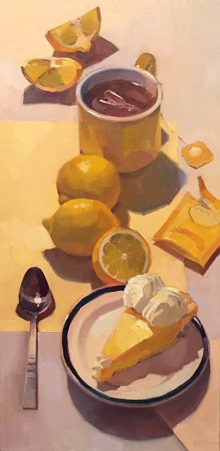 """Yellow Path (aka Lemon Pie, the Sequel)"" original fine art by Sarah Sedwick"