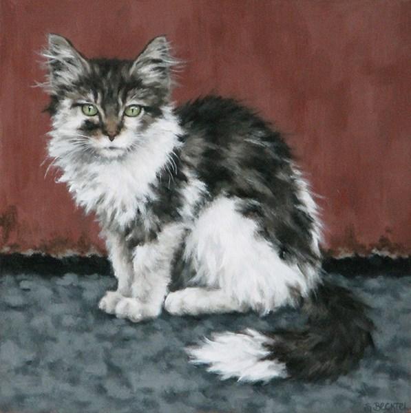 """""""Dumpster Kitten III"""" original fine art by Sarah Becktel"""