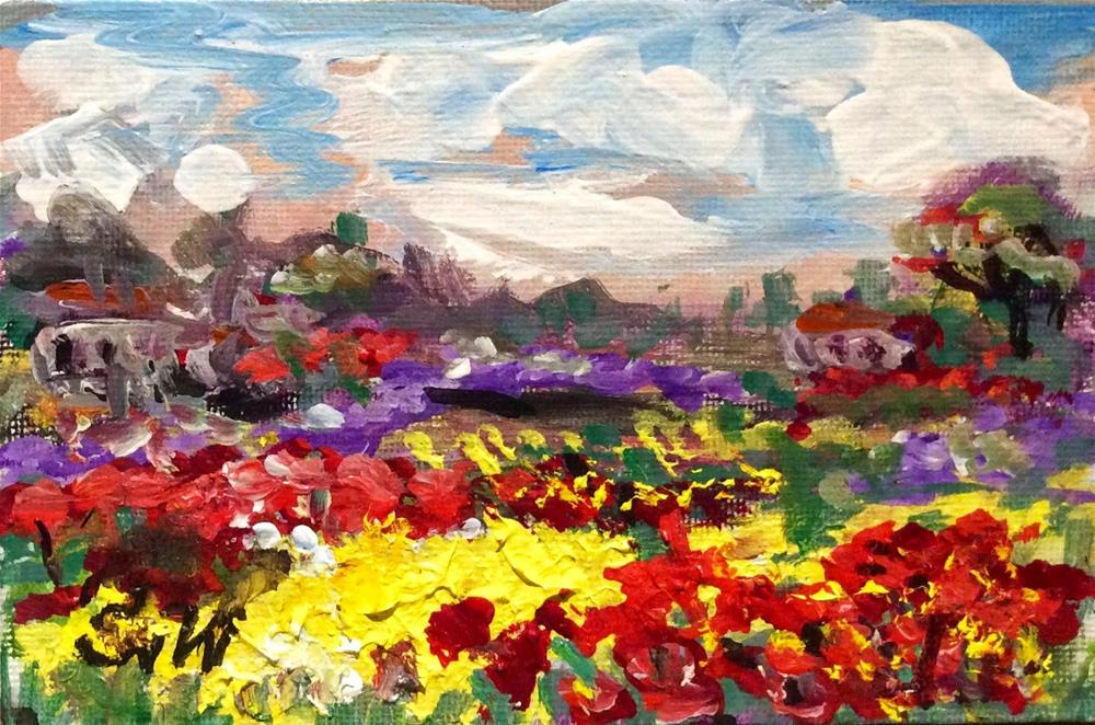 """Provence Landscape Painting"" original fine art by Sonia von Walter"