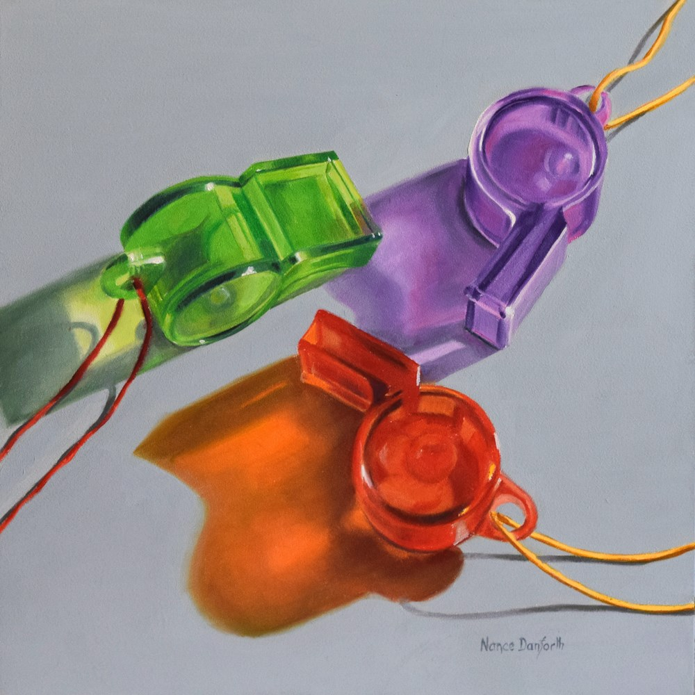 """Toy Whistles"" original fine art by Nance Danforth"