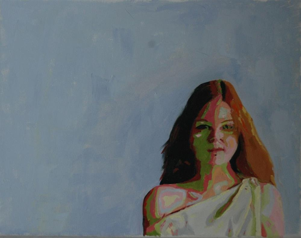 """COLORFUL LADY"" original fine art by Linda Popple"