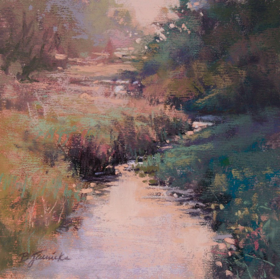 """Meandering"" original fine art by Barbara Jaenicke"