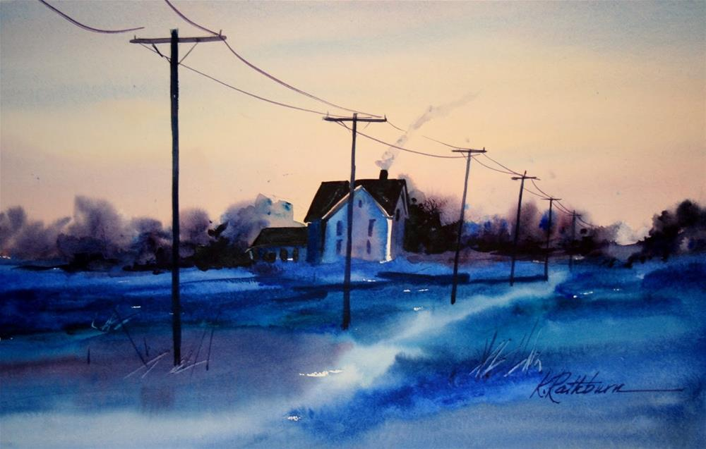 """Snow Isn't Always White"" original fine art by Kathy Los-Rathburn"