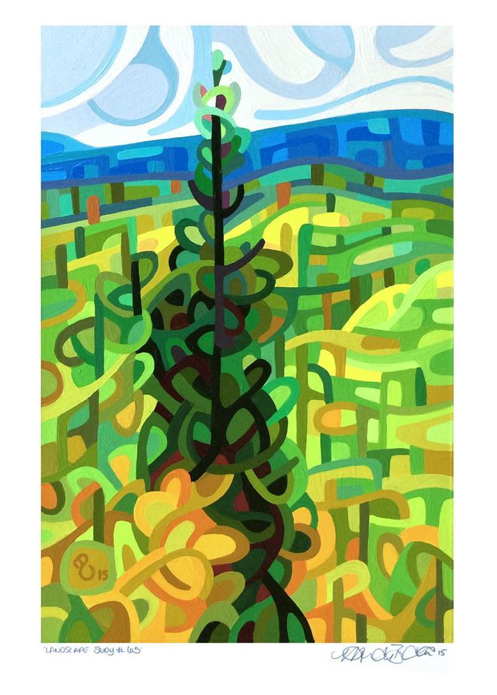 """Landscape Study #65"" original fine art by Mandy Budan"