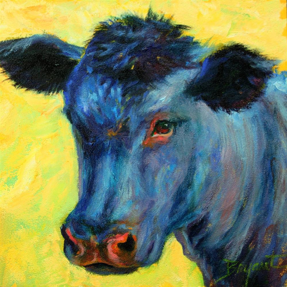 """How Now, Blue Cow"" original fine art by Debra Bryant"