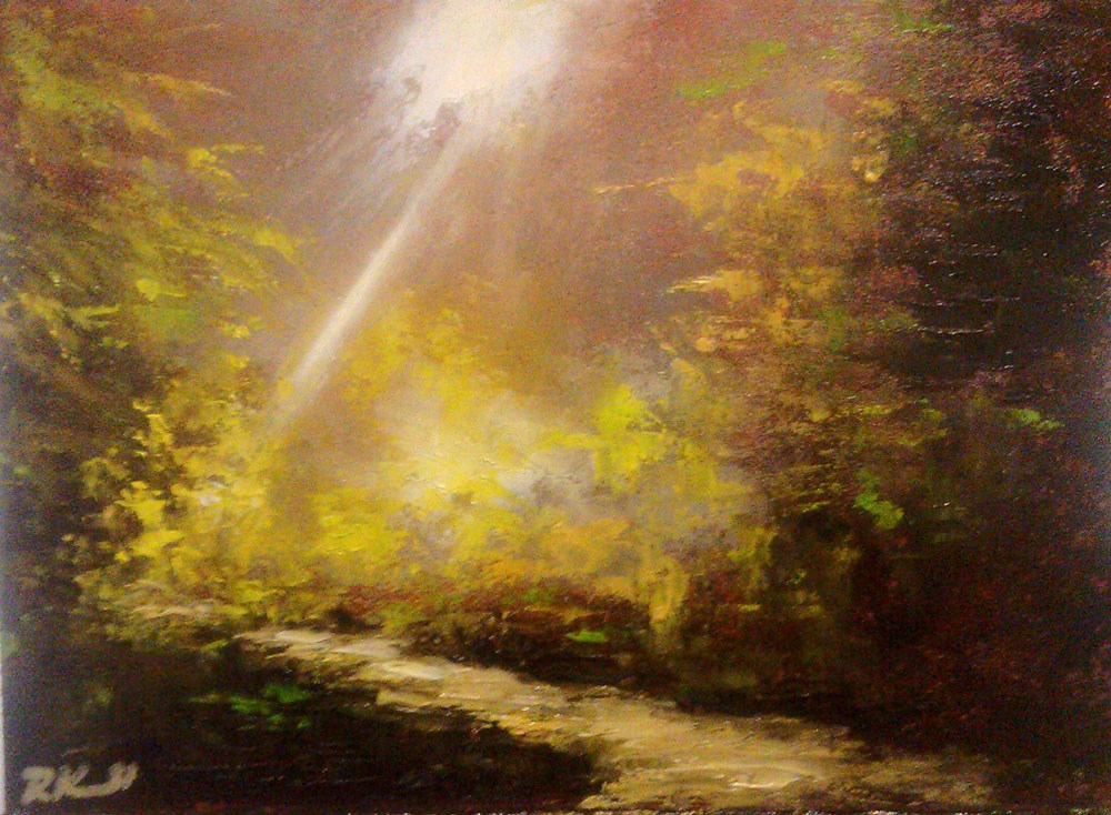 """A Ray of Sunshine"" original fine art by Bob Kimball"