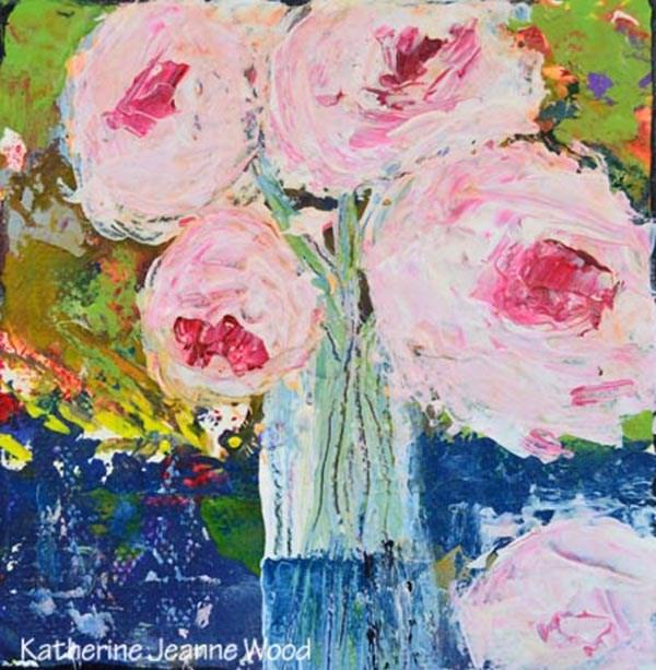 """Flower Series No 52"" original fine art by Katie Jeanne Wood"