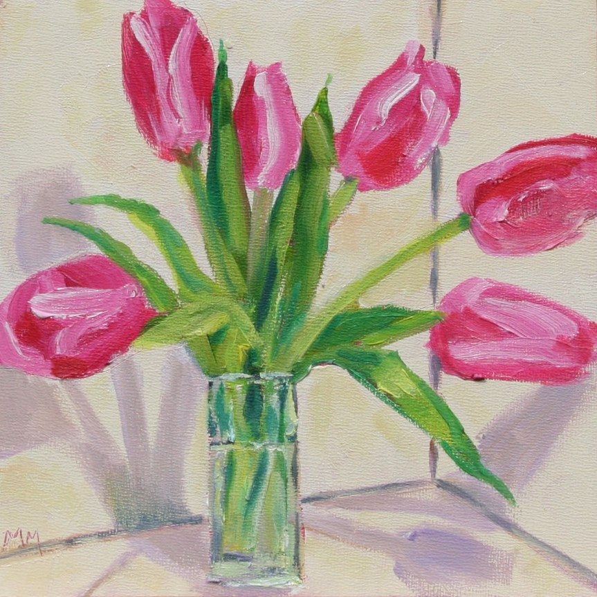 """Pink and Shadow"" original fine art by Maria McNitt"