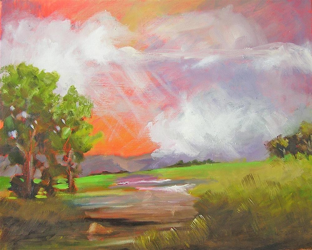 """Unsettled"" original fine art by Carol Cochran"