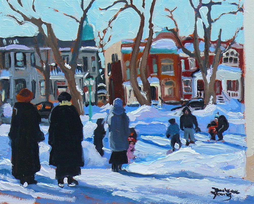 """""""595 Parc St-Viateur Outremont"""" original fine art by Darlene Young"""