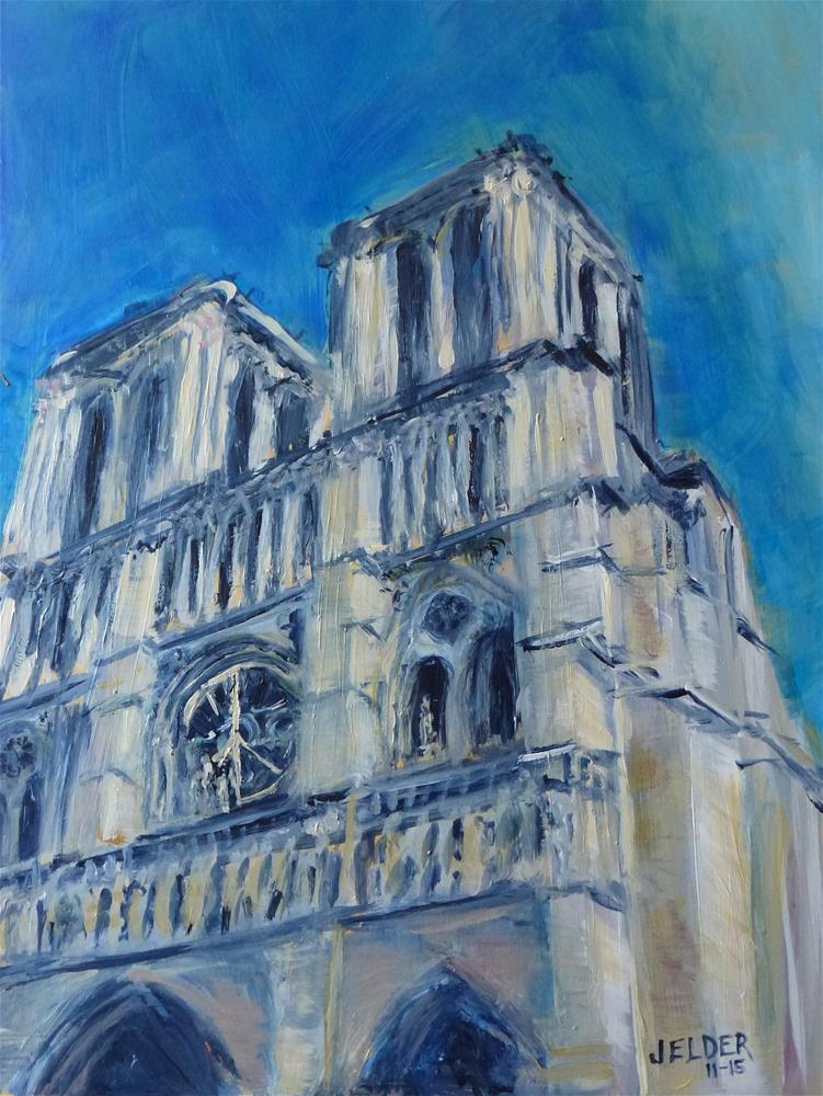 """For Paris, Paris No. 97"" original fine art by Judith Elder"