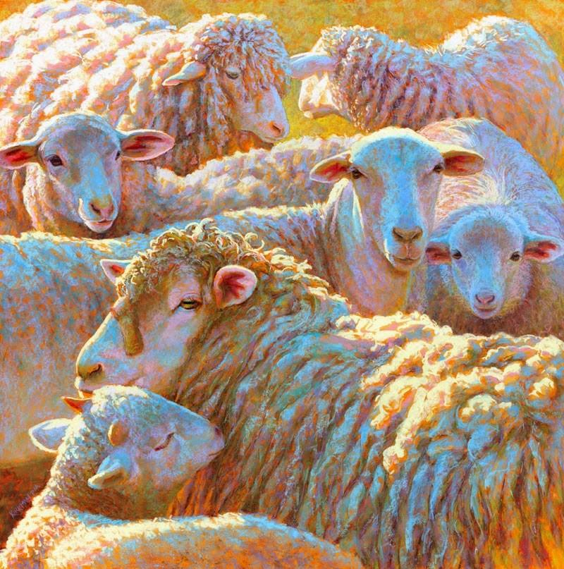 """Counting Sheep"" original fine art by Rita Kirkman"