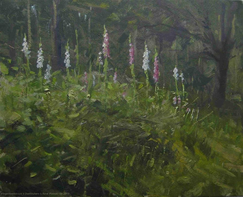 """Foxgloves. Doetinchem, The Netherlands"" original fine art by René PleinAir"