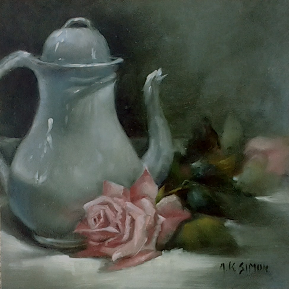 """Admiration, Meet Elegance"" original fine art by A.K. Simon"