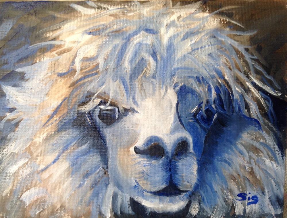 """""""Goat me once"""" original fine art by Sigrid Victor"""