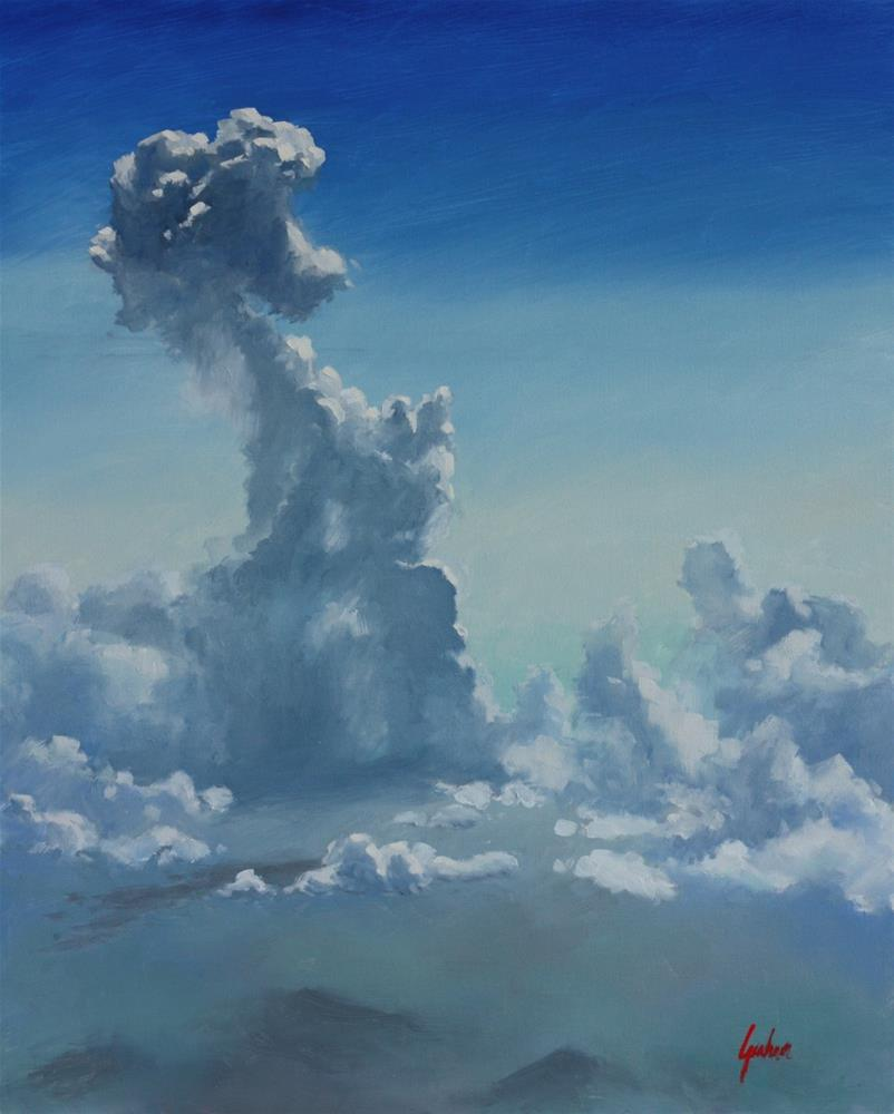"""Sky #2 – Clouds over Sardinia"" original fine art by Graham Townsend"
