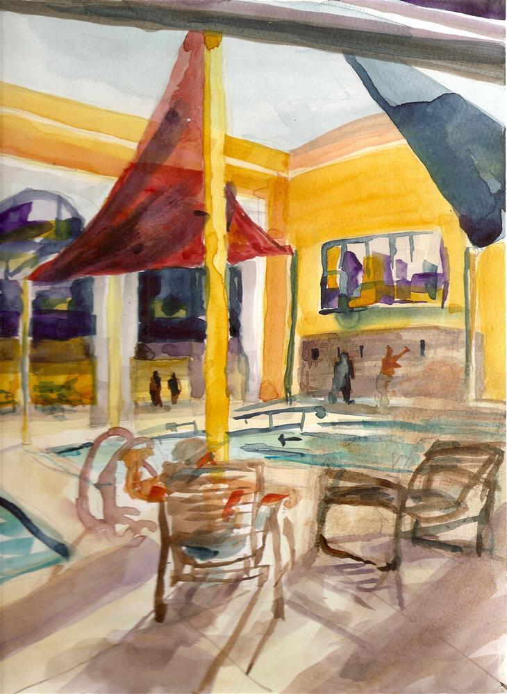 """Fairway Rec Center 2"" original fine art by Jean Krueger"