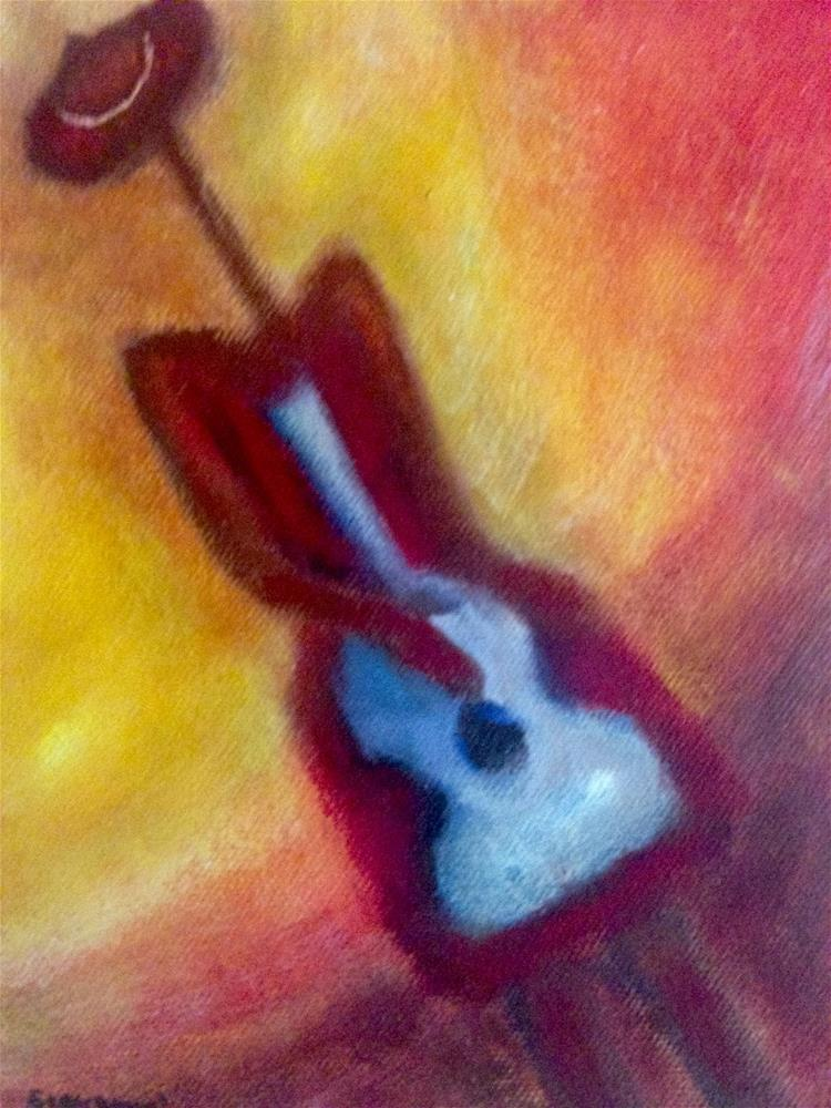 """""""Woman and guitar"""" original fine art by Giovanni Antunez"""