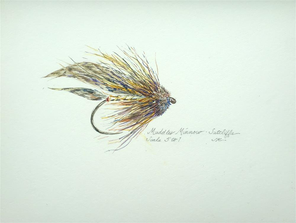 """Muddler Minnow - Sutcliffe"" original fine art by Jean Krueger"