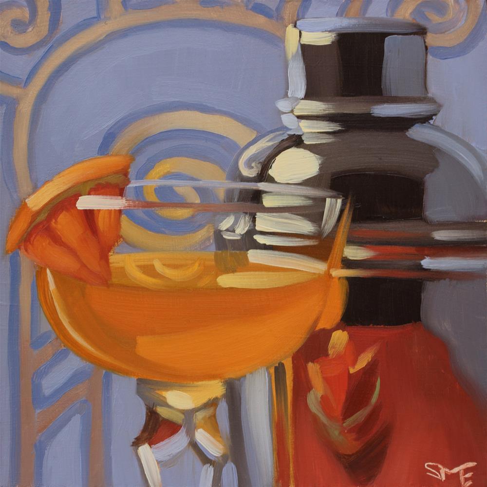 """Grapefruit Twist"" original fine art by Sheila Evans"