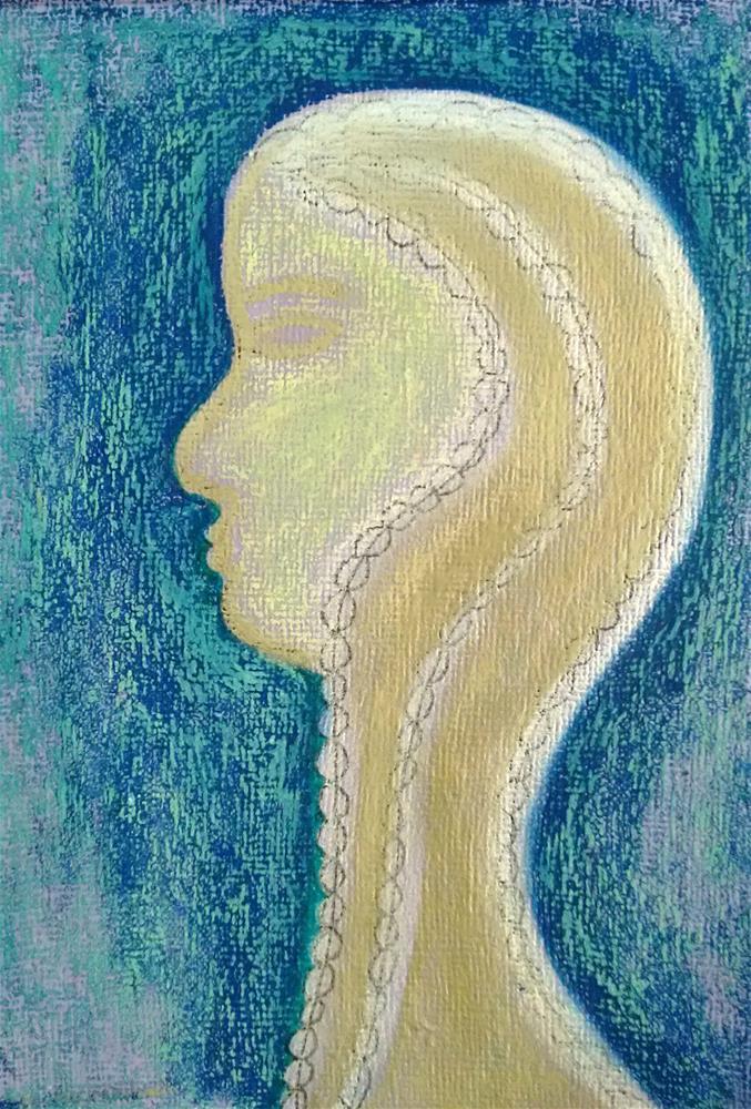 """""""Golden Queen"""" original fine art by Adéla Svobodová"""