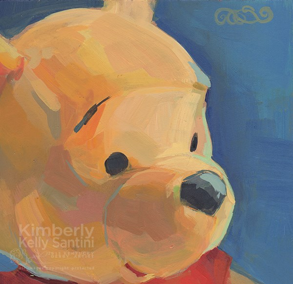 """Pooh Bear III"" original fine art by Kimberly Santini"