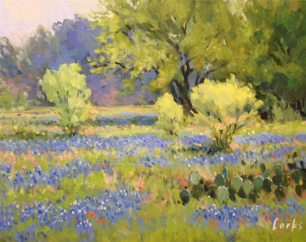 """Early Spring in Texas"" original fine art by David Forks"