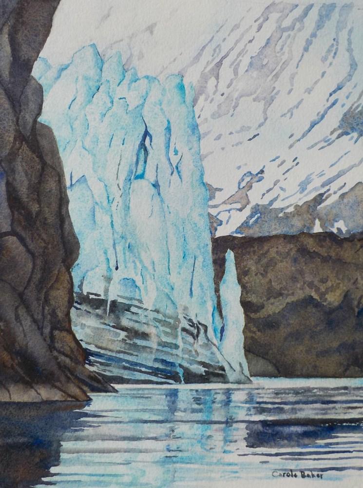 """""""Approching Margarie Glacier"""" original fine art by Carole Baker"""