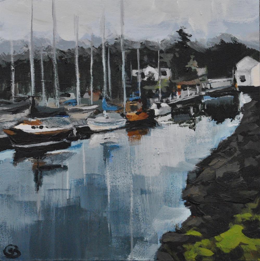 """""""Morning at Pt. Hudson Marina"""" original fine art by Shari Buelt"""