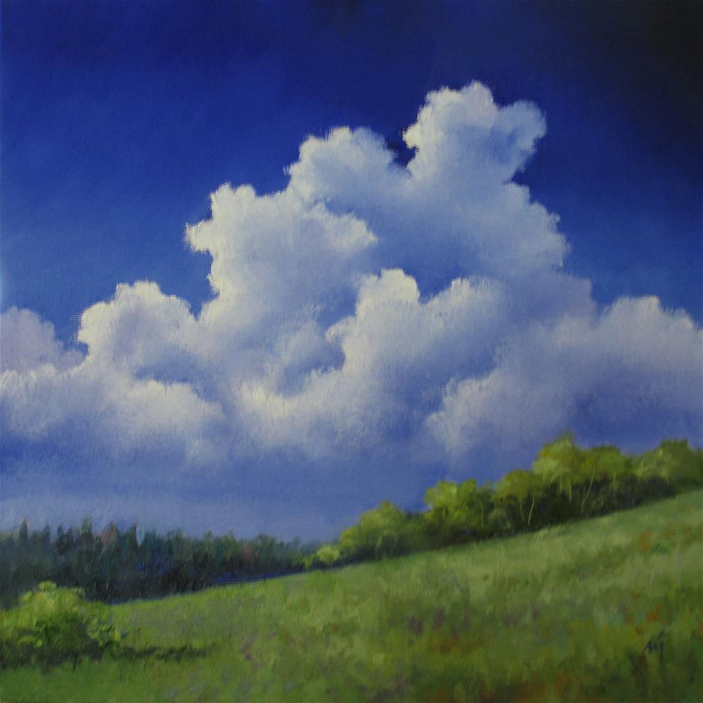 """Cumulonimbus"" original fine art by Nel Jansen"