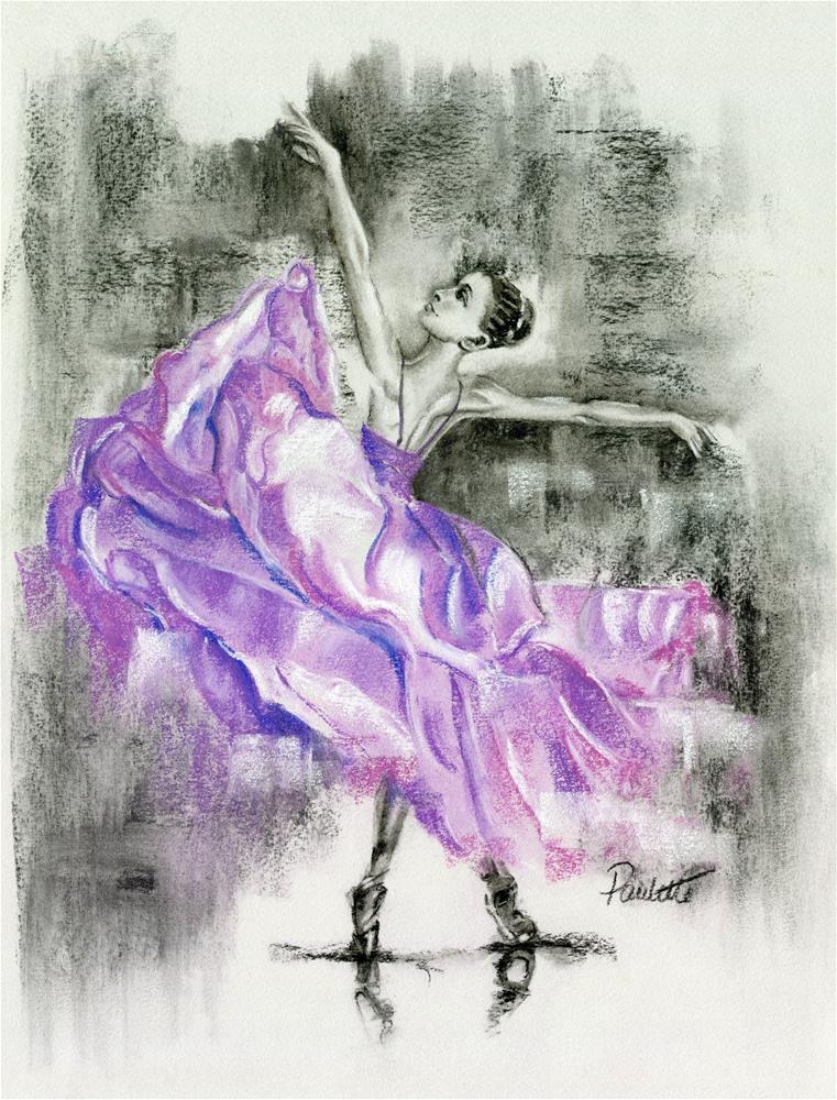 """Ballerina Waltz"" original fine art by Paulette Farrell"