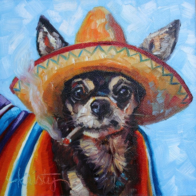 """AY! CHIHUAHUA"" original fine art by Kristy Tracy"
