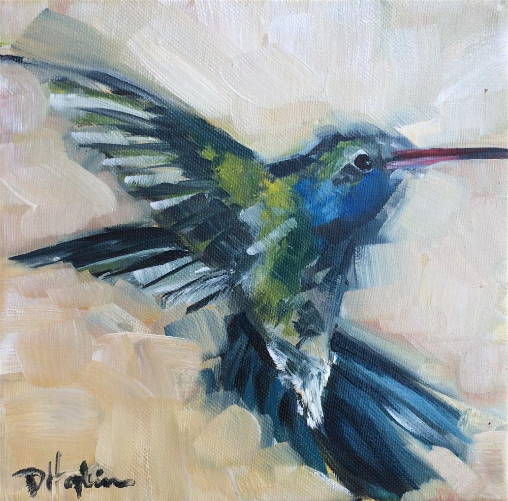 """Bright Blue 2"" original fine art by Denise Hopkins"