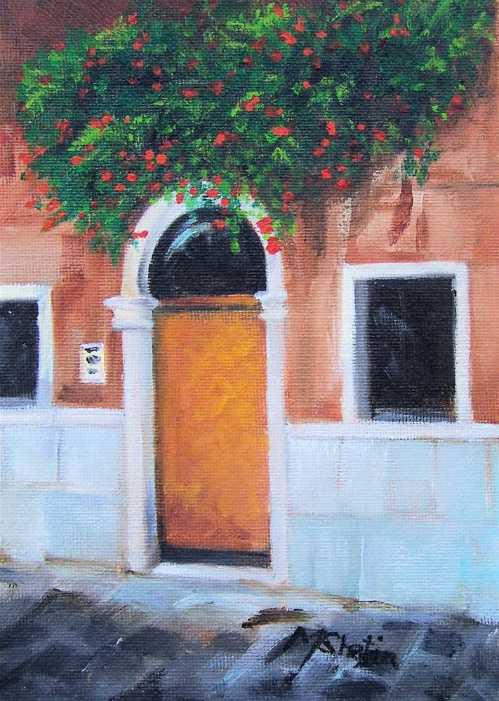 """Venetian Street Entrance"" original fine art by Maureen Ghetia"