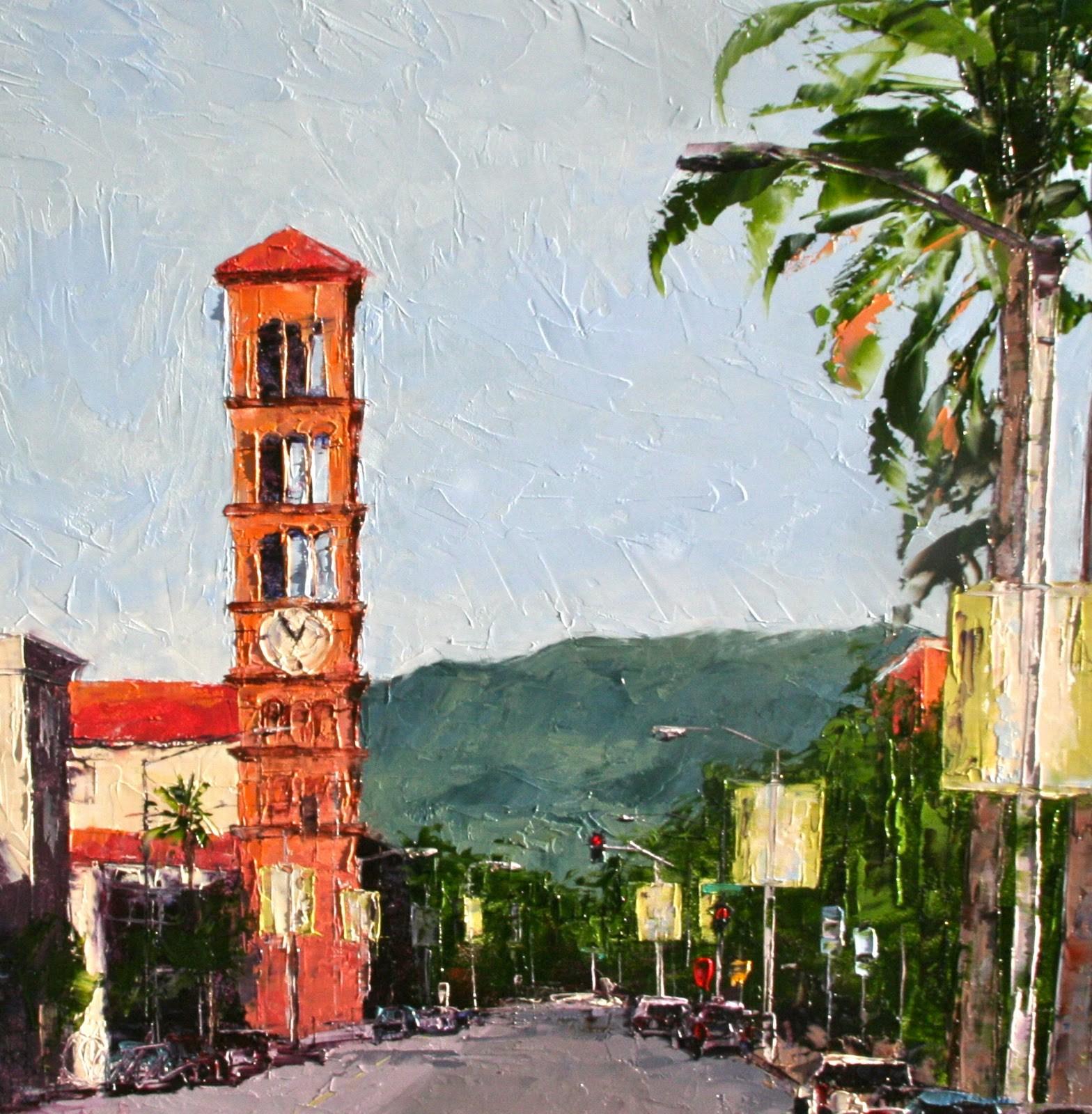 """Leaving Pasadena"" original fine art by Leslie Saeta"