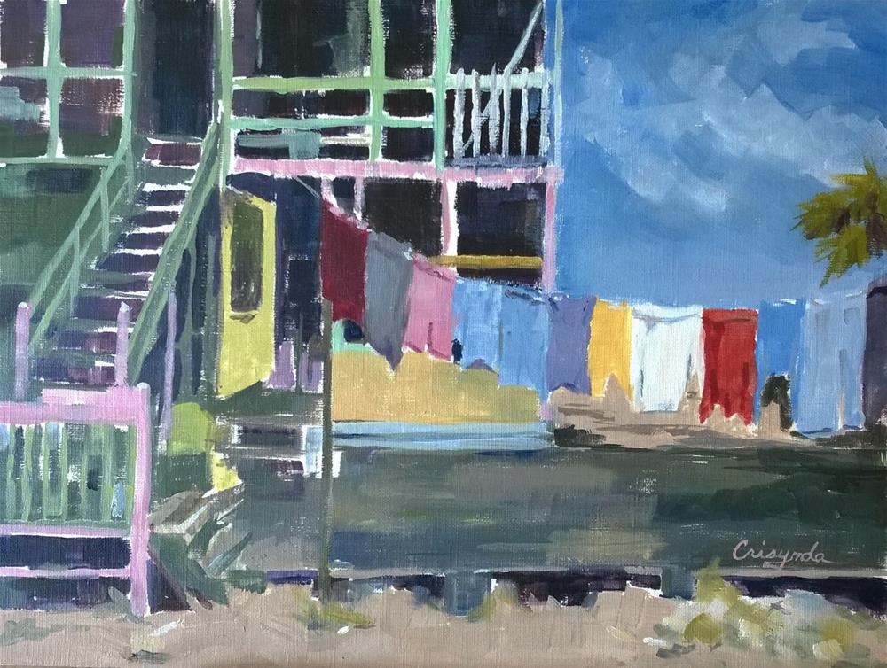 """Room for Laundry"" original fine art by Crisynda Buss"