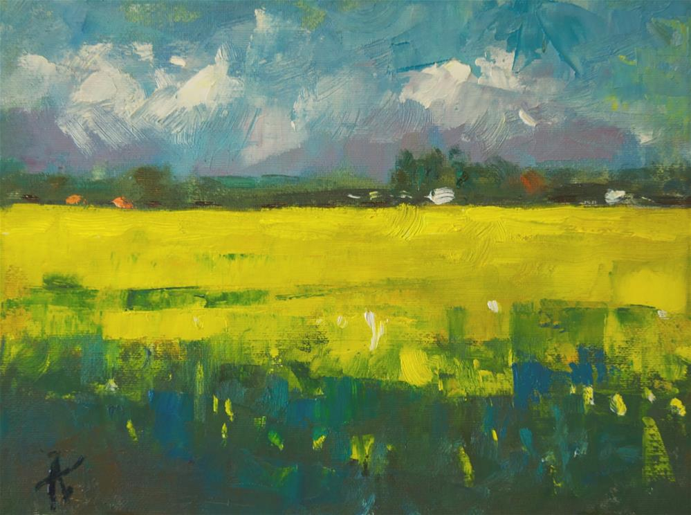 """Rapeseed Field"" original fine art by Andre Pallat"