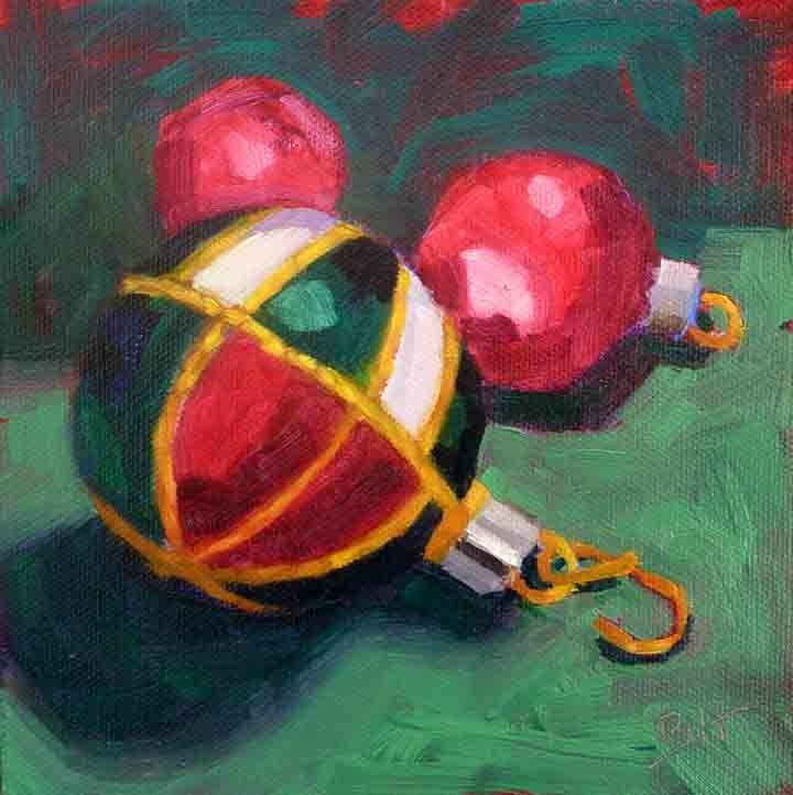 """Ornaments"" original fine art by Bobbi Heath"