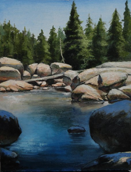 """High Sierra"" original fine art by Kirk Miller"