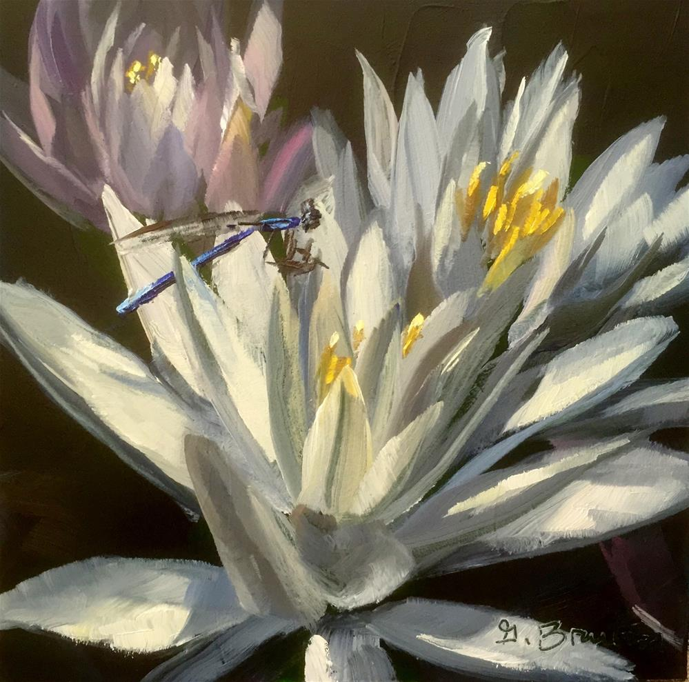 """Blue Damselfly"" original fine art by Gary Bruton"