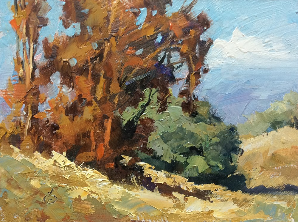 """A BEAUTIFUL DAY "" original fine art by Tom Brown"