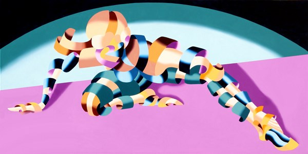 """Mark Webster - Becca 219.02 - Geometric Abstract Figurative Oil Painting"" original fine art by Mark Webster"