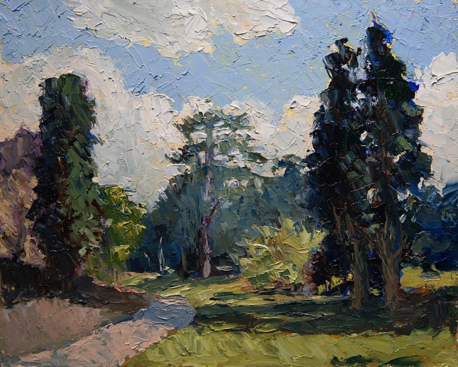 """Kew Gardens"" original fine art by Jethro Knight"