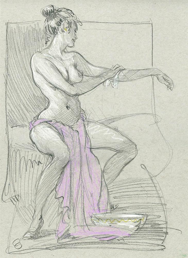 """Wash"" original fine art by Chris Ousley"